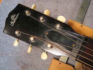 Gibson L-0、ブリッジ剥がれ、クラックリペア