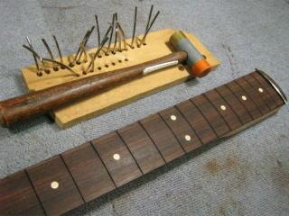 Fender Precision Bass、フレット交換、ナット交換