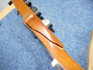 Gibson Thunderbird,ネック折れリペア