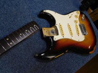 Fender Stratocaster、リペア、修理