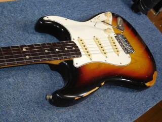 Fender Stratocaster、フレット交換、、ナット交換