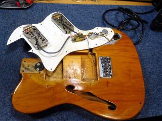 Fender Telecaster、アッセンブリー修理、リペア