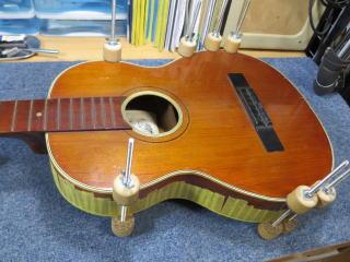クラシックギターの修理