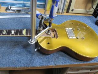 Gibson Les Paul、改造、ネック外し