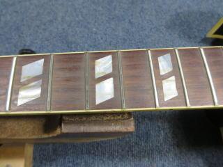 Gibson ES-175、フレットすり合わせ