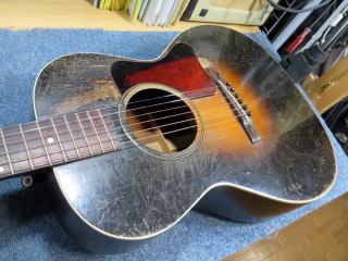 Gibson L-00、リペア、修理、30年代