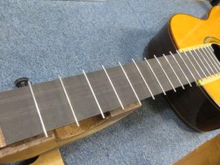 クラシックギター、リペア、修理、フレット
