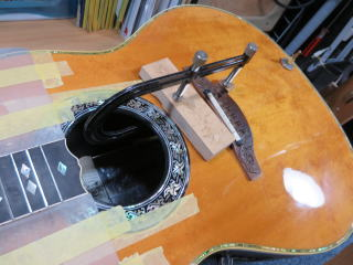 Ovation Custom Legend、修理、リペア、割れ