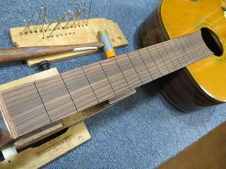 松岡クラシックギター、フレット交換、リペア、修理