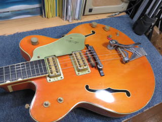 Gretsch G6120 Nashville Double Cutaway、修理、リペア