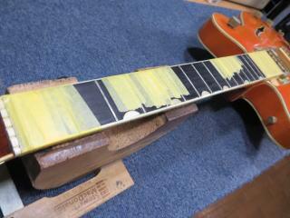 Gretsch G6120 Nashville Double Cutaway、修理、リペア、バインディング補修