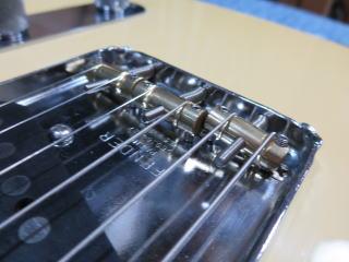 Fender Telecaster、ブリッジ交換、修理、リペア、メンテナンス