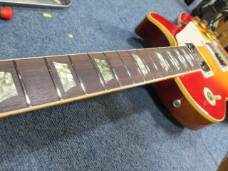 Gibson Les Paul、70年代、メンテナンス、杉並、ナインス、NINTH、ネック