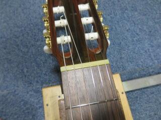 松岡クラシックギター、ナット交換、リペア、修理