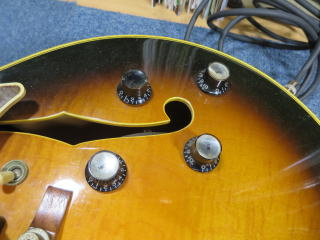Gibson Tal Farlow、リペア、修理、ポット交換