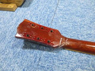 ギブソン・レスポール、ネック折れ、リペア、修理