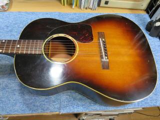 Gibson LG-2、修理、ナインス、50年代、ヴィンテージ、リペア、ギブソン