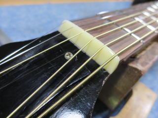 Gibson LG-2、修理、ナインス、50年代、ヴィンテージ、リペア、ギブソン、牛骨ナット