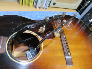 Gibson LG-2、リペア、杉並、高円寺、修理、メンテナンス、クラック、割れ