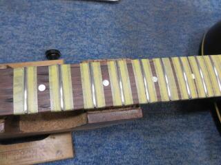 Gibson LG-2、修理、ナインス、50年代、ヴィンテージ、リペア、ギブソン、すり合わせ