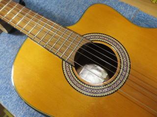 クラシックギター、エレガット、リペア、修理、ナインス、杉並