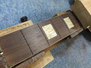 Harmony H65、ナインス、リペア、修理、杉並、ビザール、指板