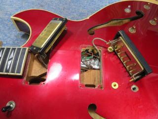 Gibson ES-137 Custom、修理、ナインス、東京、杉並、高円寺、リペア、スイッチ