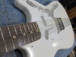 Fender Duo Sonic、ナインス、修理、リペア、杉並、ネック角度