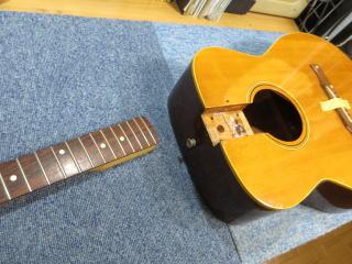 Fender Malibu、修理、ナインス、東京、リペア、ヴィンテージ、アコースティックギター、ネック