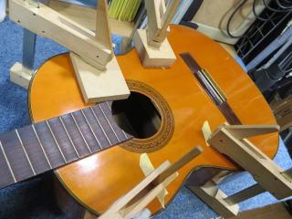 信濃クラシックギター、修理、リペア、ナインス、杉並、東京、弦高、力木