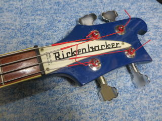RICKENBACKER 4001、修理、杉並、ナインス、東京、リペア、ナット