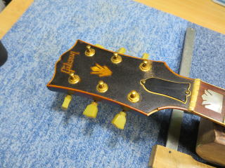 Gibson J-200、ネック折れ、修理、ナインス、東京、リペア、ギブソン、ヘッド