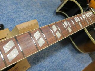 Gibson ES-165 Herb Ellis、修理、杉並、東京、リペア、ナインス、フレット