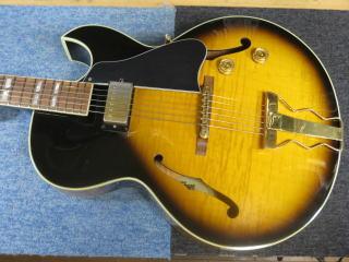Gibson ES-165 Herb Ellis、修理、杉並、東京、リペア、ナインス、メンテナンス、アーチトップ