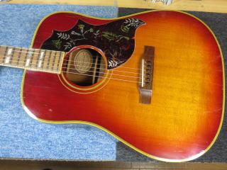 Gibson Hummingbird、ネック折れ、修理、杉並、東京、ナインス、リペア、ハミングバード