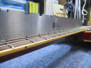 Gibson ES-335、リペア、ナインス、杉並、修理、東京、トラスロット調整