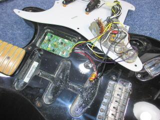 FENDER Eric Clapton Stratocaster、リペア、修理、杉並、東京、ナインス、配線