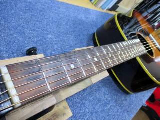 Gibson J-45 1959年製、ナインス、杉並、高円寺、東京、リペア、修理、ポジションマーク入れ