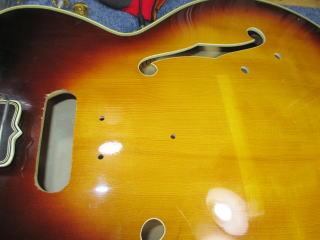 Gibson L-5C、リペア、杉並、東京、修理、ナインス