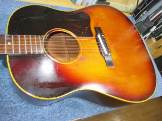 Gibson J-45 1959年製、ナインス、杉並、高円寺、東京、リペア、修理、クリーニング