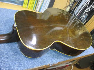 Gibson ES-125、ナインス、杉並、東京、高円寺、リペア、修理、アーチトップギター