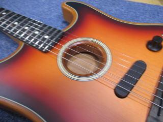 Fender Acoustasonic Stratocaster、ナインス、リペア、修理、東京、高円寺、杉並、弦高