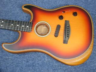 Fender Acoustasonic Stratocaster、ナインス、リペア、修理、東京、高円寺、杉並、メンテナンス