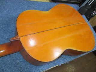 田村廣作 フラメンコギターC100、修理、ナインス、リペア、東京、杉並、高円寺、裏板