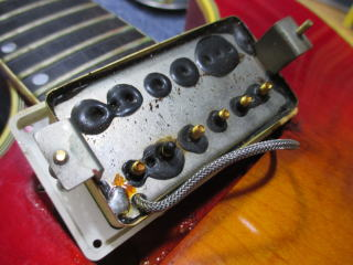 Gibson ES Artist、リペア、ナインス、東京、修理、杉並、ピックアップ