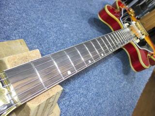 Gibson ES Artist、リペア、ナインス、東京、修理、杉並、ネック、トラスロッド調整