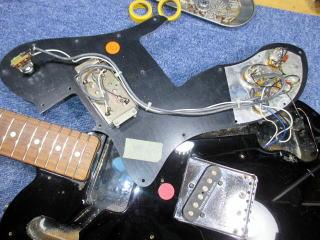 Fender Telecaster Custom、ナット交換、ナインス、リペア、修理、東京、高円寺、配線