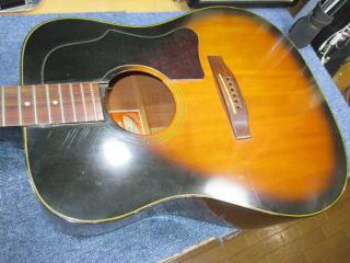 Gibson J-45 Deluxe、リペア、修理、ナインス、東京
