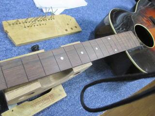 Recording King Model-K、ナインス、リペア、修理、東京、杉並、高円寺、指板調整