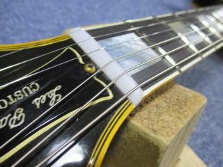 Gibson Les Paul Custom、ナット交換、ナインス、修理、リペア、高円寺、杉並、東京、メンテナンス
